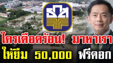Photo of สินเชื่อ เงินให้กู้ยืม ธ.ก.ส. ช่วยผู้ประสบภัย 50,000 ดอกเบี้ย 0%  ให้ยืมก่อน ค่อยคืนทีหลัง