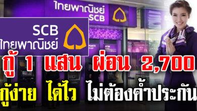 Photo of ด่วน เงินเดือน 15,000 กู้ได้ 100,000 – 3,000,000 บาท จาก ธนาคารไทยพาณิชย์ ไม่ต้องมีคนค้ำประกัน