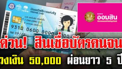 Photo of เปิดวิธีสมัครสินเชื่อออมสิน  สำหรับผู้ถือบัตรคนจน ยืมได้วงเงิน 50000 ผ่อนยาว 5 ปี